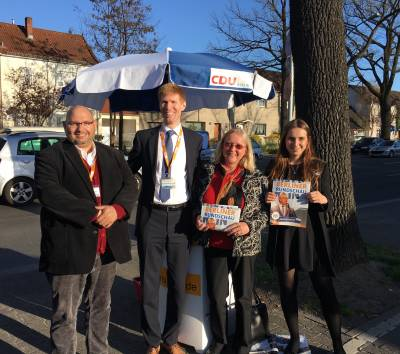 Ein starkes Team beim Canvassing in Mariendorf! - Ein starkes Team beim Canvassing in Mariendorf!
